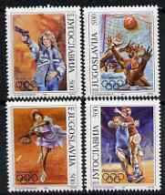 Yugoslavia 1992 Barcelona Olympics set of 4 unmounted mint, SG 291-94