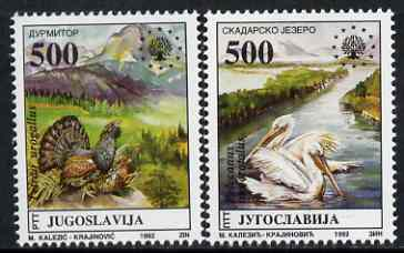 Yugoslavia 1992 Nature Protection set of 2 unmounted mint, SG 2822-23