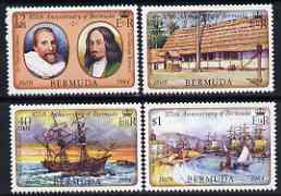 Bermuda 1984 375th Anniversary of First Settlement set of 4 unmounted mint, SG 473-76