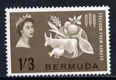 Bermuda 1963 Freedom From Hunger unmounted mint, SG 180