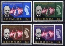 Bermuda 1966 Churchill Commemoration set of 4 unmounted mint, SG 189-92