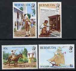 Bermuda 1984 Bicentenary of Bermuda's First Newspaper set of 4 unmounted mint, SG 469-72