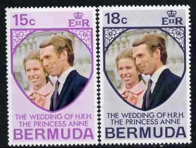 Bermuda 1973 Royal Wedding set of 2 unmounted mint, SG 297-98