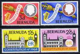 Bermuda 1968 New Constitution set of 4 unmounted mint, SG 216-19