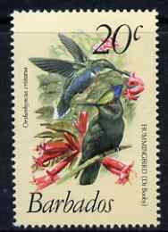 Barbados 1979-83 Crested Hummingbird 20c (from def set) unmounted mint SG 628