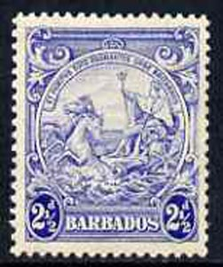 Barbados 1938-47 Badge of Colony 2.5d ultramarine unmounted mint, SG 251*