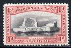 Falkland Islands 1933 Centenary 1d Iceberg unmounted mint SG 128