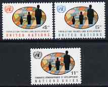 United Nations (NY) 1965 Population Trends & Development set of 3 unmounted mint, SG 151-53