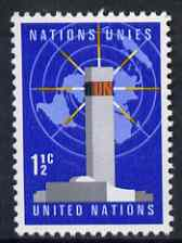 United Nations (NY) 1967 UN Headquarters & Map 1.5c unmounted mint SG 164*