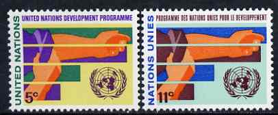 United Nations (NY) 1967 UN Development Programme set of 2 unmounted mint, SG 168-69*