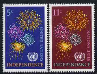 United Nations (NY) 1967 New Independent Nations set of 2 unmounted mint, SG 170-71*