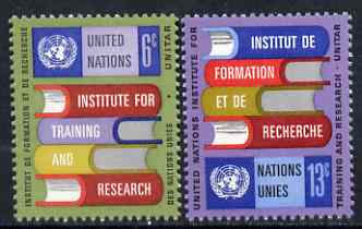 United Nations (NY) 1969 UN Institute for Training (UNITAR) set of 2 unmounted mint, SG 193-94*