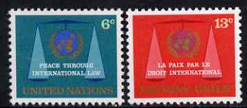 United Nations (NY) 1969 International Law Commission set of 2 unmounted mint, SG 197-98*