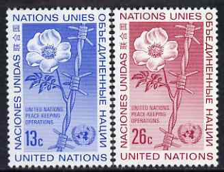 United Nations (NY) 1975 UN Peace Keeping set of 2 unmounted mint, SG 272-73