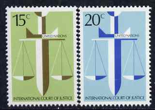 United Nations (NY) 1979 International Court of Justice set of 2 unmounted mint, SG 323-24