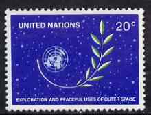 United Nations (NY) 1982 Peaceful Uses of Outer Space unmounted mint, SG 382*