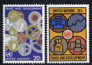 United Nations (NY) 1983 Trade & Development set of 2 unmounted mint, SG 406-07