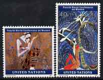 United Nations (NY) 1995 World Conference on Women set of 2 unmounted mint, SG 676-77