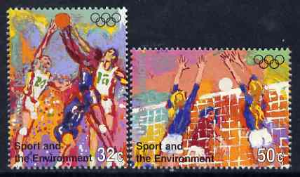 United Nations (NY) 1996 Sport and the Environment set of 2 unmounted mint, SG 703-04