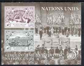 United Nations (Geneva) 1995 50th Anniversary of UN (2nd issue) m/sheet unmounted mint, SG MS G272