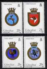Gibraltar 1984 Naval Crests (3rd series) set of 4 unmounted mint, SG 510-13