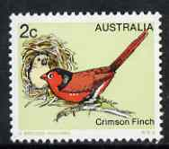Australia 1978-80 Crimson Finch 2c from Birds def set unmounted mint, SG 670