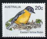 Australia 1978-80 Eastern Yellow Robin 20c from Birds def set unmounted mint, SG 674