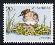 Australia 1978-80 Little Grebe 20c from Birds def set unmounted mint, SG 673