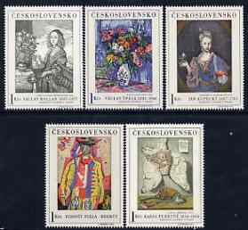 Czechoslovakia 1966 Art (1st issue) set of 5 unmounted mint, SG 1619-23