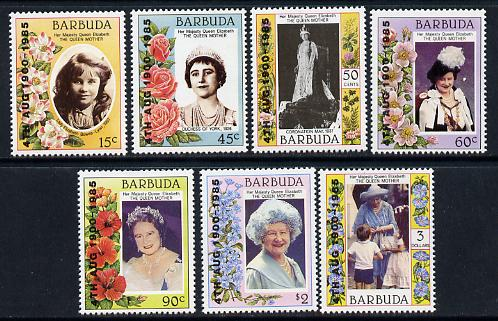 Barbuda 1985 Life & Times of HM Queen Mother 85th B