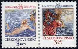 Czechoslovakia 1975 Bratislavia Tapestries (2nd series) set of 2 unmounted mint, SG 2227-28