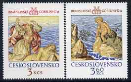 Czechoslovakia 1976 Bratislavia Tapestries (3rd series) set of 2 unmounted mint, SG 2281-82
