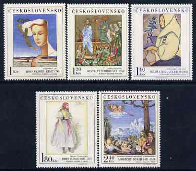 Czechoslovakia 1971 Art (6th issue) set of 5 unmounted mint, SG 1999-2003