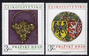 Czechoslovakia 1975 Prague Castle (11th series) set of 2 unmounted mint, SG 2253-54