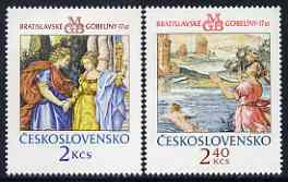 Czechoslovakia 1974 Bratislavia Tapestries (1st series) set of 2 unmounted mint, SG 2176-77