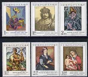 Czechoslovakia 1973 Art (8th issue) set of 6 unmounted mint, SG 2134-39