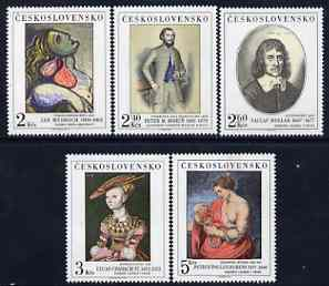 Czechoslovakia 1977 Art (12th issue) set of 5 unmounted mint, SG 2375-79