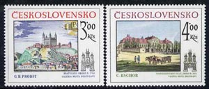Czechoslovakia 1981 Historic Bratislavia (5th issue) set of 2 unmounted mint, SG 2582-83