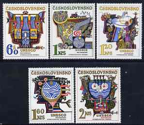Czechoslovakia 1974 Hydrological Decade set of 5 unmounted mint, SG 2157-61
