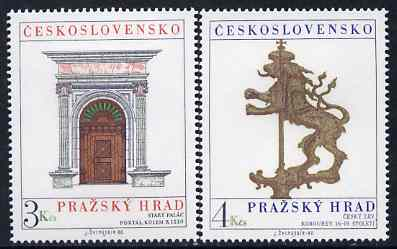 Czechoslovakia 1980 Prague Castle (16th series) set of 2 unmounted mint, SG 2543-44