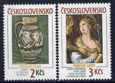 Czechoslovakia 1988 Prague Castle (24th series) set of 2 unmounted mint, SG 2950-51