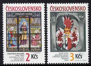 Czechoslovakia 1987 Prague Castle (23rd series) set of 2 unmounted mint, SG 2878-79