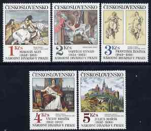 Czechoslovakia 1983 Art (17th issue) set of 5 unmounted mint, SG 2702-06