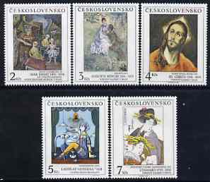 Czechoslovakia 1991 Art (26th issue) set of 5 unmounted mint, SG 3077-81