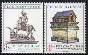 Czechoslovakia 1982 Prague Castle (18th series) set of 2 unmounted mint, SG 2637-38
