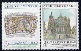 Czechoslovakia 1981 Prague Castle (17th series) set of 2 unmounted mint, SG 2599-2600