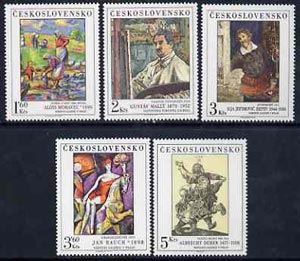 Czechoslovakia 1979 Art (13th issue) set of 5 unmounted mint, SG 2495-99