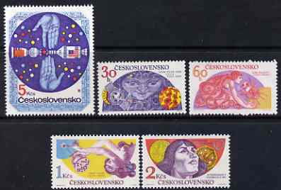 Czechoslovakia 1975 Co-operation in Space Research set of 5 unmounted mint, SG 2240-44