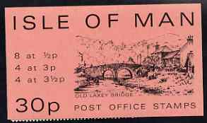 Isle of Man 1974 Old Laxey Bridge 30p stamp sachet (pink cover) complete and pristine