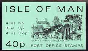 Isle of Man 1974 Monk's Bridge 40p stamp sachet (green cover) complete and pristine
